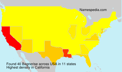 Surname Bagnerise in USA
