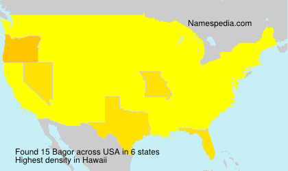 Surname Bagor in USA