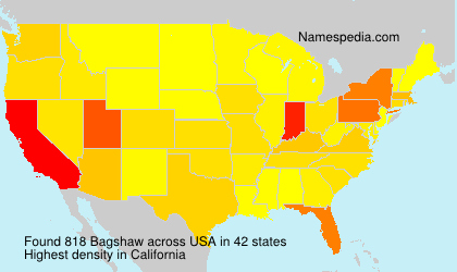 Surname Bagshaw in USA