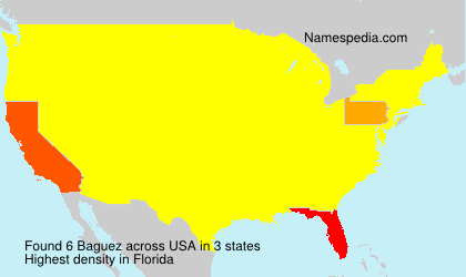 Surname Baguez in USA