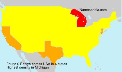 Surname Bahiya in USA