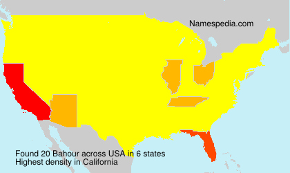Surname Bahour in USA