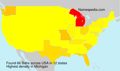 Surname Bahs in USA