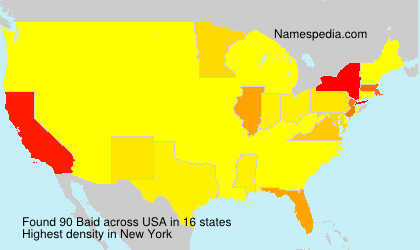 Surname Baid in USA
