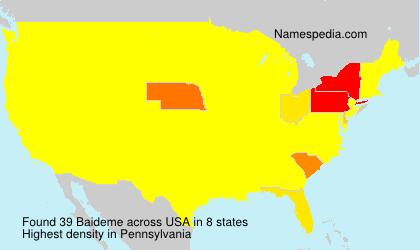 Surname Baideme in USA