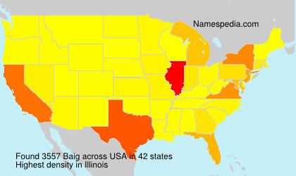 Familiennamen Baig - USA