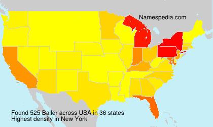 Surname Bailer in USA