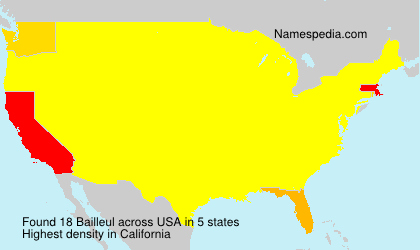 Surname Bailleul in USA