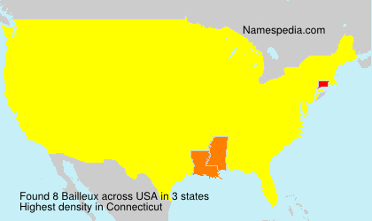Surname Bailleux in USA