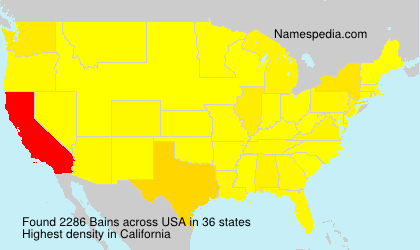Surname Bains in USA