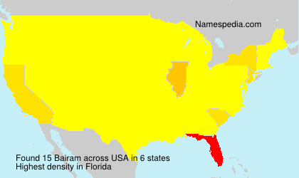 Surname Bairam in USA