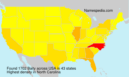 Surname Baity in USA