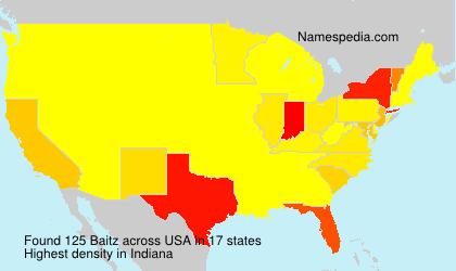 Familiennamen Baitz - USA