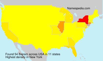 Surname Bajram in USA