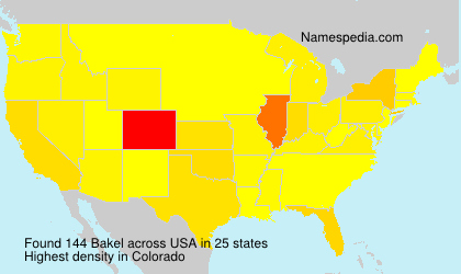 Surname Bakel in USA