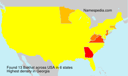 Surname Bakhat in USA