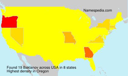 Familiennamen Baklanov - USA