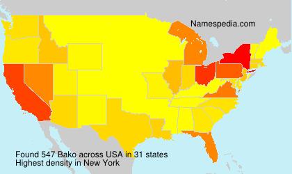 Surname Bako in USA