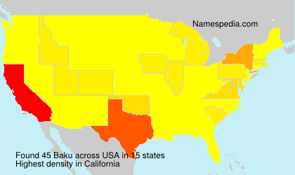 Surname Baku in USA