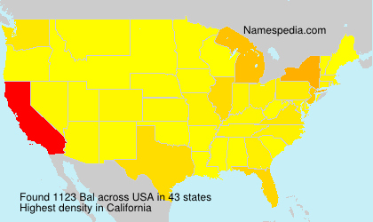 Surname Bal in USA
