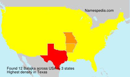 Surname Balajka in USA