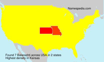 Surname Balarashti in USA