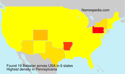 Surname Balaster in USA