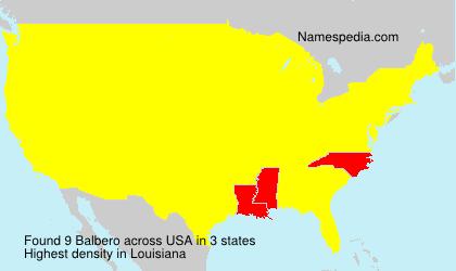 Familiennamen Balbero - USA