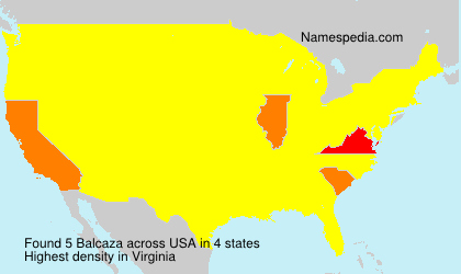 Surname Balcaza in USA