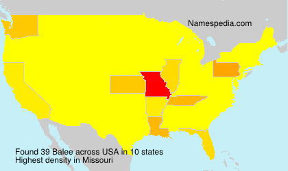 Surname Balee in USA
