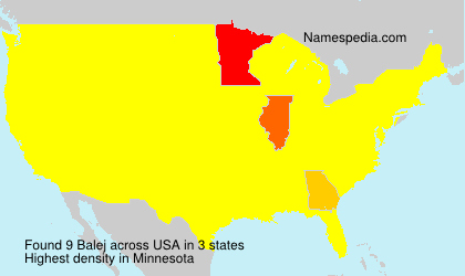 Surname Balej in USA