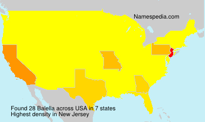 Surname Balella in USA