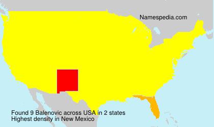 Surname Balenovic in USA
