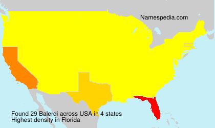 Surname Balerdi in USA