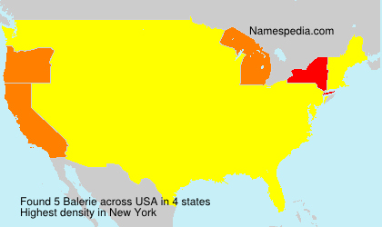 Surname Balerie in USA