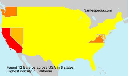 Familiennamen Baleros - USA