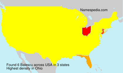 Surname Balescu in USA