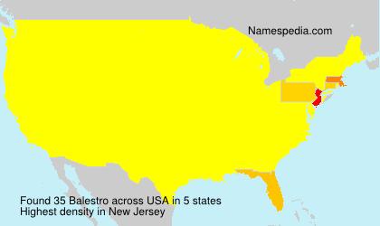 Familiennamen Balestro - USA