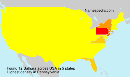 Surname Balhara in USA