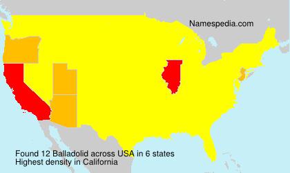 Familiennamen Balladolid - USA