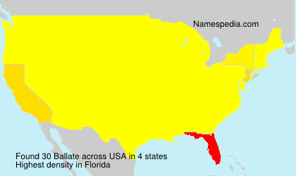 Surname Ballate in USA
