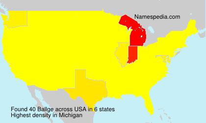 Familiennamen Ballge - USA