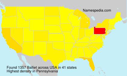 Surname Balliet in USA