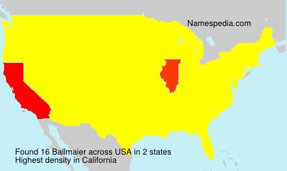 Surname Ballmaier in USA