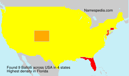 Surname Ballolli in USA