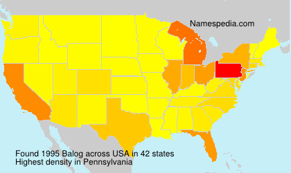 Surname Balog in USA