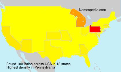 Familiennamen Baloh - USA