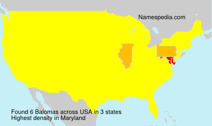 Surname Balomas in USA