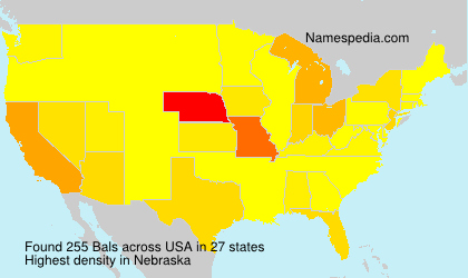 Surname Bals in USA