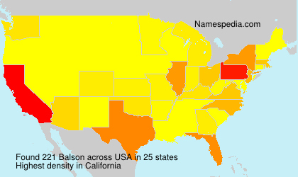 Surname Balson in USA